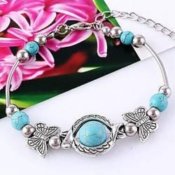 Bracelet Turquoise Rétro