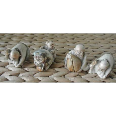 Lot de 4 Figurines Japonaise