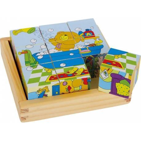 """Puzzle cubes """"Ours"""" en Bois"""