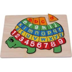 Puzzle en bois ABC tortue en Bois