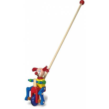 Clown à pousser «Rouquin» en Bois