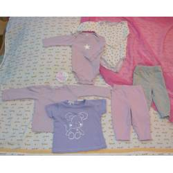 Lot de 2 T-shirt, 2 Leggings et 2 Bodys