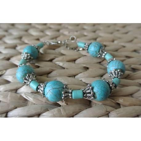 Bracelet Turquoise & Argenté