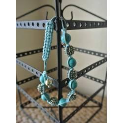 Bracelet Turquoise à Strass