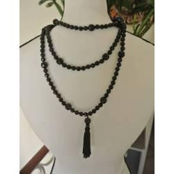 Sautoir de Perles Noires