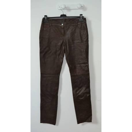 "Pantalon en Cuir ""Camaieu"" (T.40)"