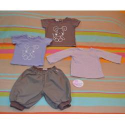 Lot de 1 pantalon et 3 t-shirts
