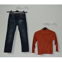 """Ensemble T-shirt """"Sucre d'Orge"""" et Jeans (T8ans)"""