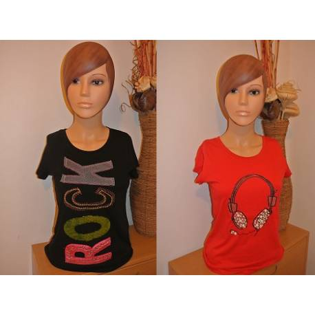 Lot de 2 T-shirt rock