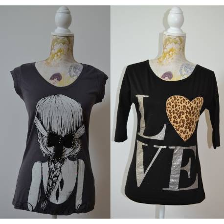Lot de 2 T-shirts Fantaisies